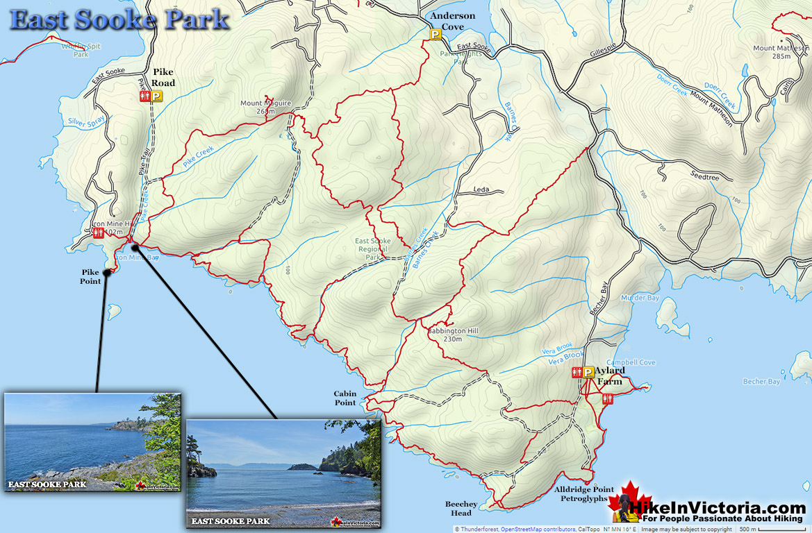 East Sooke Park Map