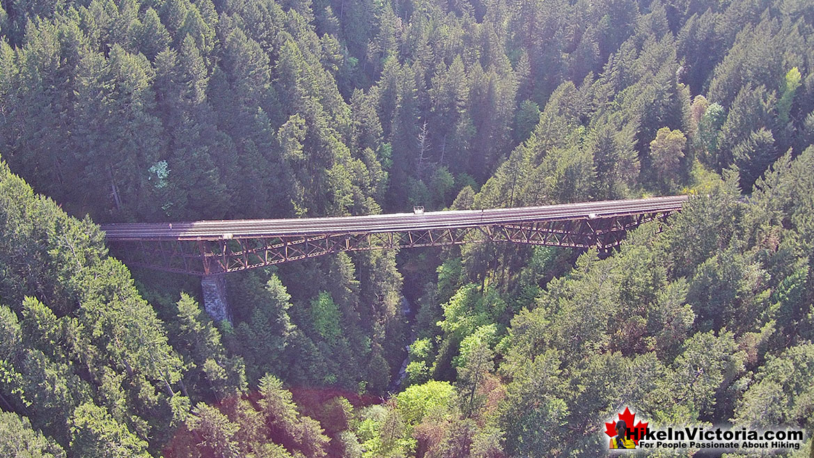 Goldstream Park Train Trestle Aerial View