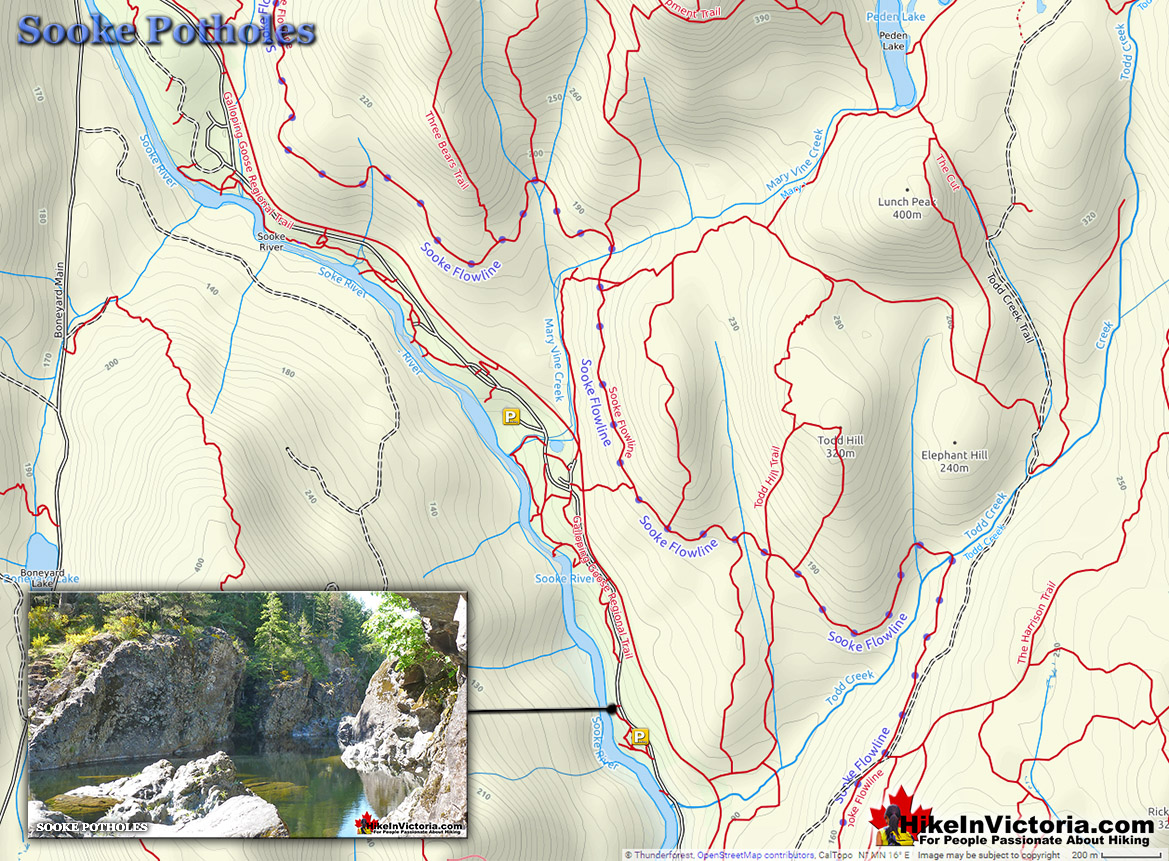 Sooke Potholes Map