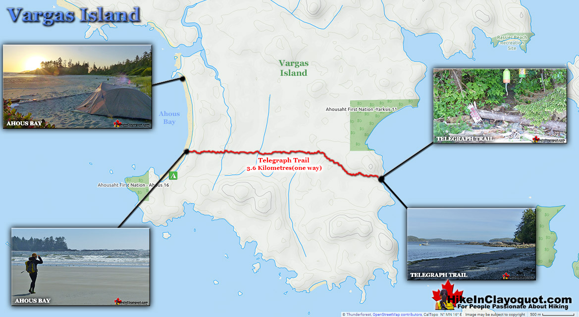 Vargas Island Trail Map